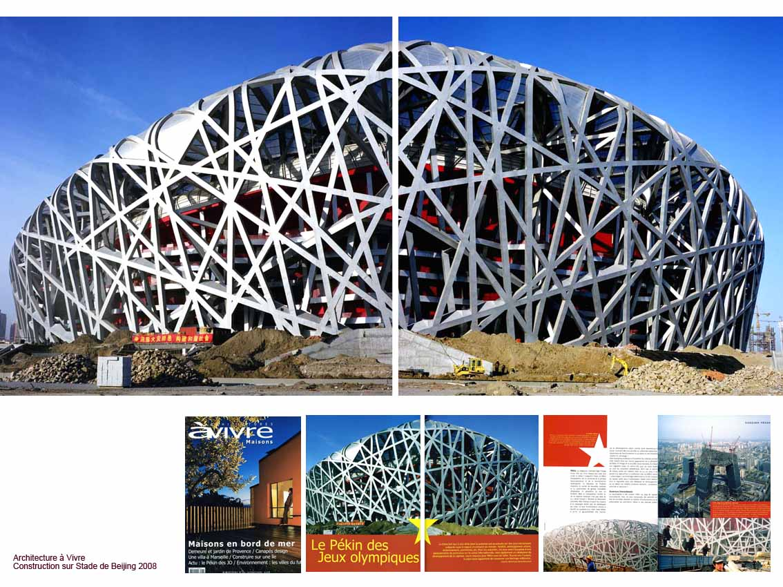 Parution Archi a Vivre Stade JO Beijing